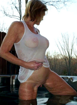 Raunchy mature women bares their big..