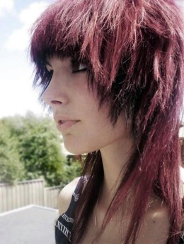 Young emo girl with short hair. Just..