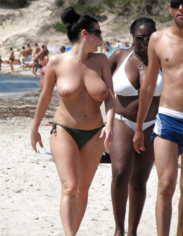 Hidden camera on the nudist beach