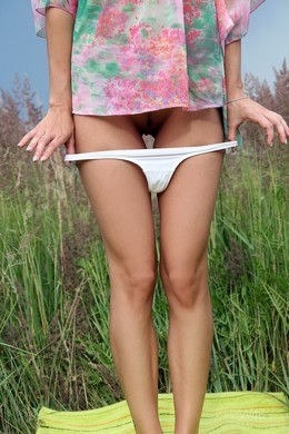 Teens without panties in public places