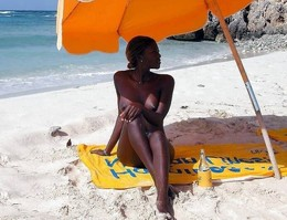 Naked African nudist, private photos..