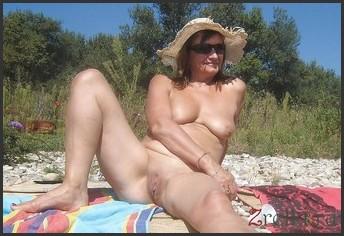 women Naked sunbathing mature
